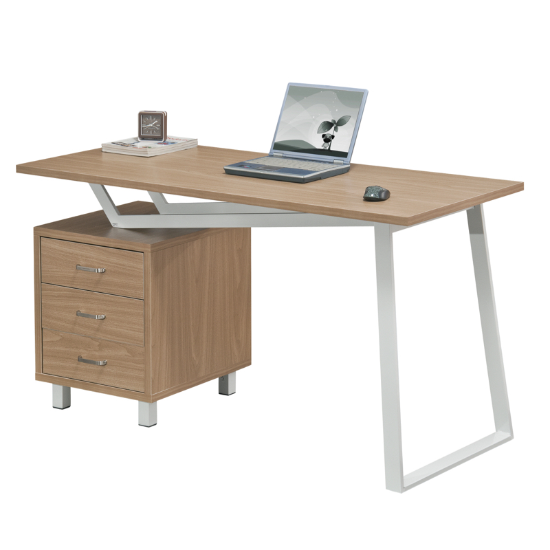 Alphason Seattle Office Desk, Oak & Walnut
