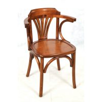 Ancient Mariner Furniture Mahogany Village Wooden Seat Occasional Chair