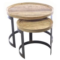 Ancient Mariner Furniture Old Empire Round Nest of Tables