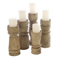 Ancient Mariner Furniture Set of 5 Turned Candles
