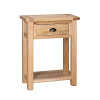 Besp-Oak Console Table with 1 Drawer (KD)