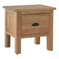 Besp-Oak Lamp Table with Drawer
