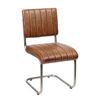 Besp-Oak Ribbed Leather Chair