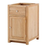 Besp-Oak Right 1 Door 1 Drawer Cabinet with soft close drawers