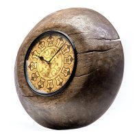 Besp-Oak Upcycled Antique Tagari clock with Wooden Dial