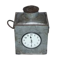 Besp-Oak Upcycled Iron Container clock
