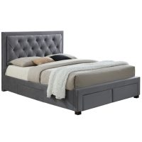 Birlea Woodbury Fabric 4ft 6in Double Bed Frame