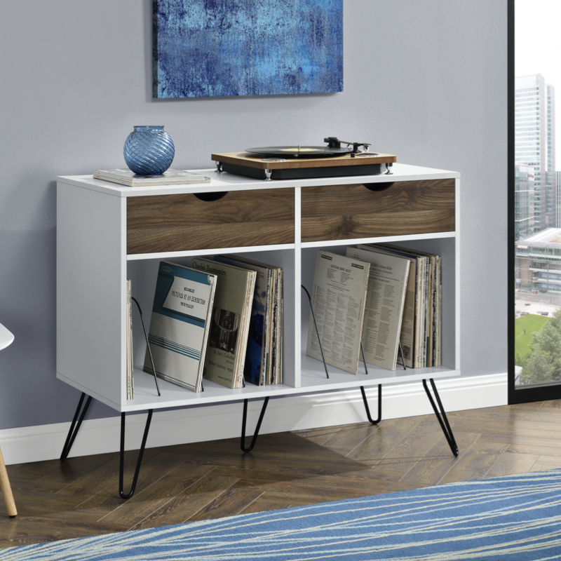 Dorel Concord Turntable Stand with Drawers