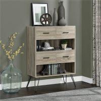 Dorel Landon Retro Bookcase with Bins