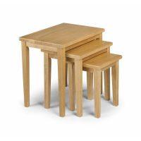 Julian Bowen Cleo Nest Of Tables in Light Oak