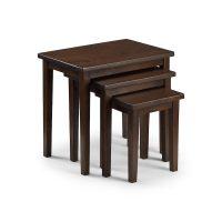 Julian Bowen Cleo Nest Of Tables in Mahogany