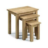 Julian Bowen Coxmoor Nest Of 3 Tables in Oak
