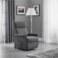 Julian Bowen Helena Rise & Recline Chair in Charcoal