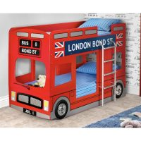 Julian Bowen London Bus Bunk Bed in Red Lacquer