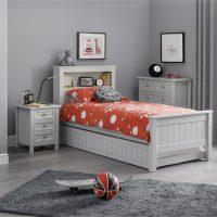 Julian Bowen Maine Bookcase Bed in Dove Grey