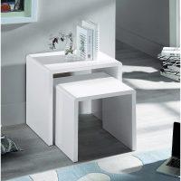 Julian Bowen Manhattan Nest Of 2 Tables in White