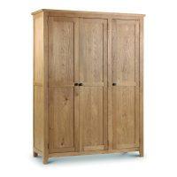 Julian Bowen Marlborough 3 Door Wardrobe in Waxed Oak