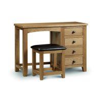 Julian Bowen Marlborough Single Pedestal Dressing Table in Oak