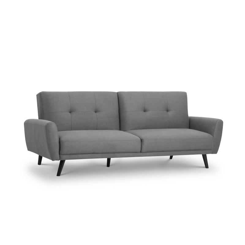 Julian Bowen Monza Fabric Sofabed in Grey