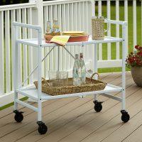 Outdoor Living Folding Serving Cart