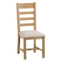 Home Essentials Havana Upholstered Ladder Back Chair