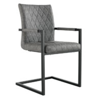 Home Essentials Milan Diamond Stitch Carver Chair