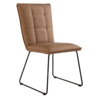 Home Essentials Milan Panel Back Chair With Angled Legs