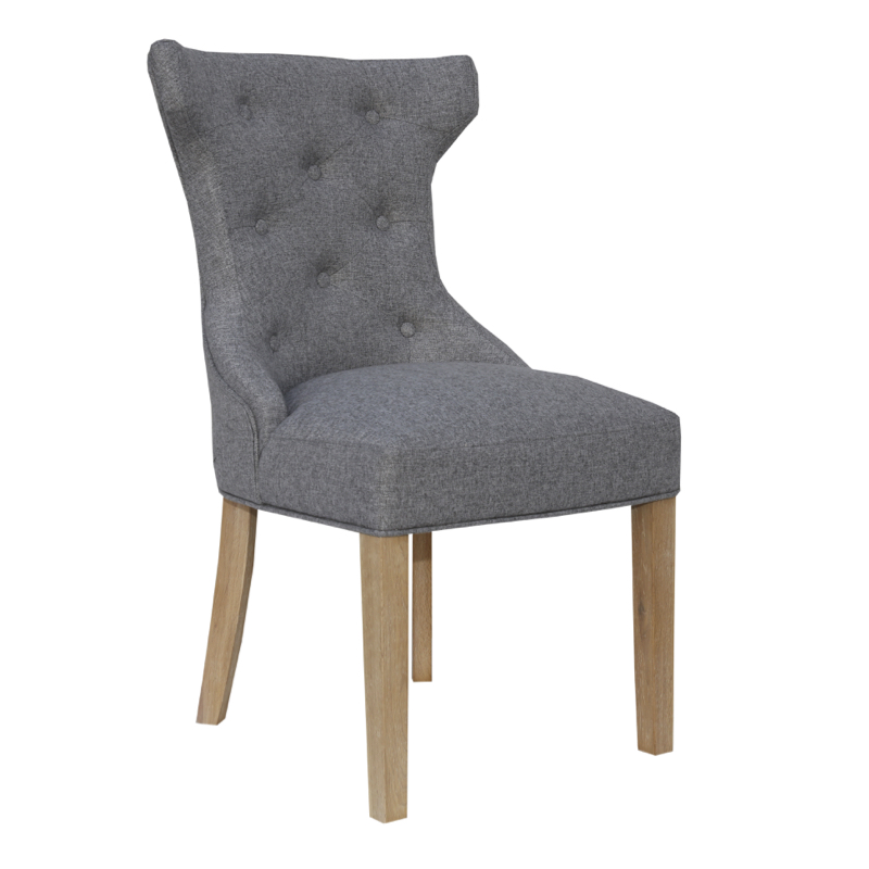 Home Essentials Milan Winged Button Back Chair With Metal Ring