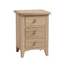 Home Essentials Sienna 3 Drawer Bedside Cabinet