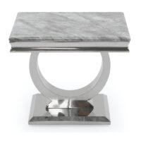 Vida Living Arianna Lamp Table - Grey Low