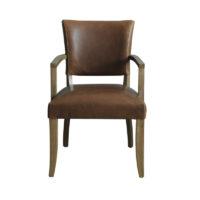 Vida Living Duke Arm Chair Leather - Tan Brown