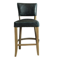 Vida Living Duke Bar Chair Leather - Ink Blue