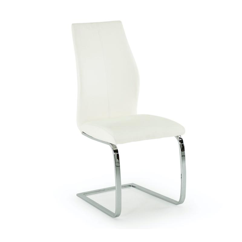 Vida Living Elis Dining Chair - Chrome Leg White (2 per pack)