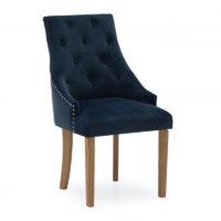 Vida Living Hobbs Dining Chair - Velvet Midnight (2 per pack)