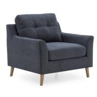 Vida Living Olten 1 Seater Sofa - Charcoal