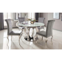Vida Living Orion Round Dining Table - White