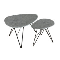 Vida Living Otto Lamp Table Triangle - Grey Concrete Dark