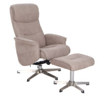 Vida Living Rayna 1 Seater Sofa Recliner with Footstool - Sand
