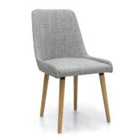 Capri Flax Effect Grey Weave Dining Chair