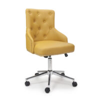 Rocco Leather Effect Yellow Office Chair