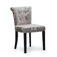 Sandringham Baroque Velvet Mink Accent Chair