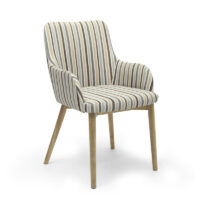 Sidcup Chenille Stripe Duck Egg Dining Chair