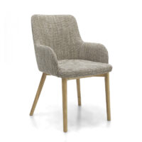 Sidcup Tweed Oatmeal Dining Chair